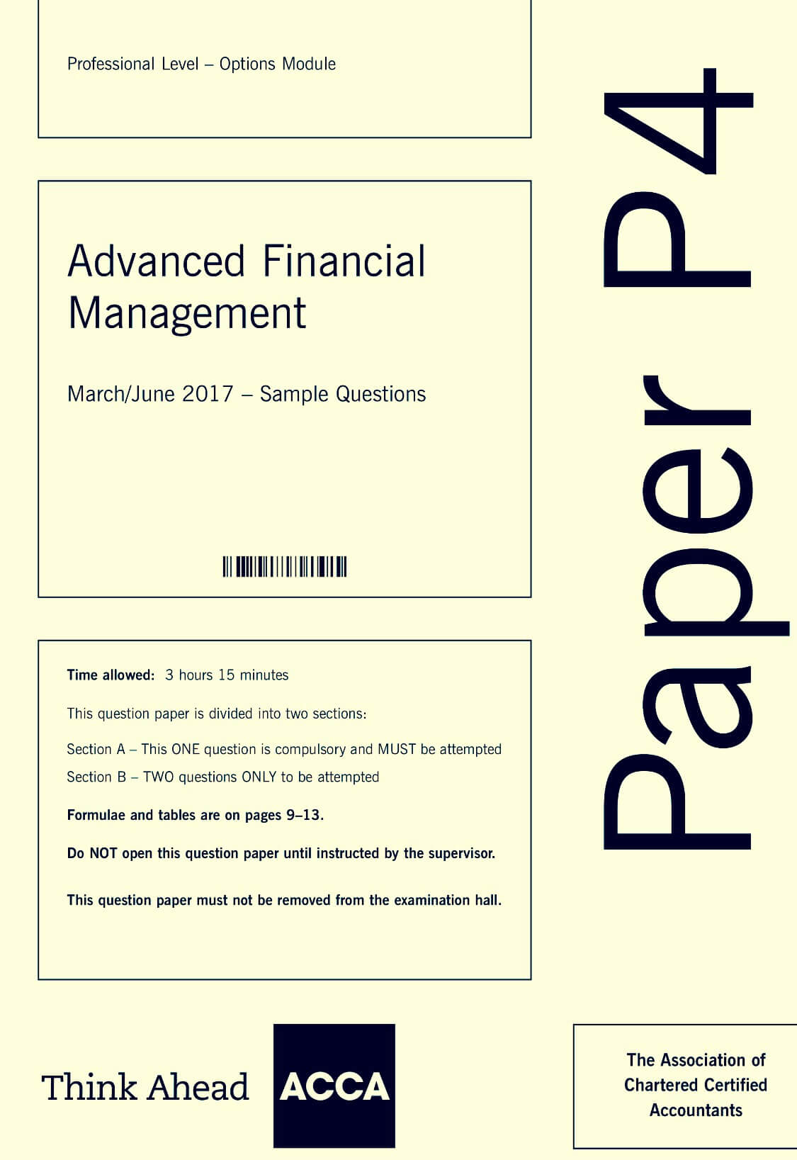 Latest ACCA P4 Exam - Disappointing    I have a Solution